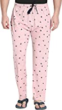 Fflirtygo Mens Pyjama Bottoms, 100% Hosiery Cotton Export Quality Fabric, Pink Color Pyjama for Men, Men's Leisure Wear, Night Wear Pajama