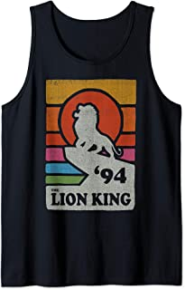 Disney The Lion King Pride Rock Retro Line Art Poster Débardeur