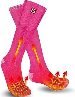 Svpro, Calcetines eléctricos Recargables para Hombres y Mujeres Calcetines calefaccionados con batería de 4000mAh 3 ajustes de Calor Calcetines de Clima frío Calentamiento hasta 12 Horas
