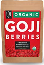 Organic Goji Berries | Large & Chewy | Every Batch Lab-Tested | 32oz Resealable Kraft Bag | 100% Raw From Ningxia | by FGO
