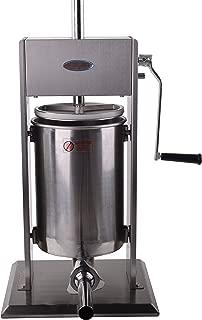 Hakka Sausage Stuffer 2 Speed Stainless Steel Vertical Sausage Maker (32Lb / 15 Liter)