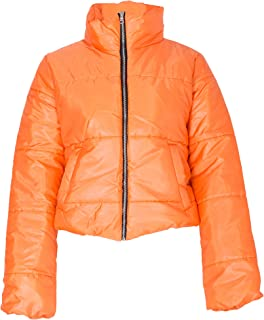 Womens Crop Jacket Padded Puffer Coat Cropped