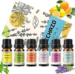 Ätherische Öle Set 100% reines Patchouliöl in Therapeutischer Qualität für Aromatherapie-Diffusor und Topische Anwendung Öle in therapeutischer Qualität, Lavendel, Orange, Eukalyptus 6  10 m