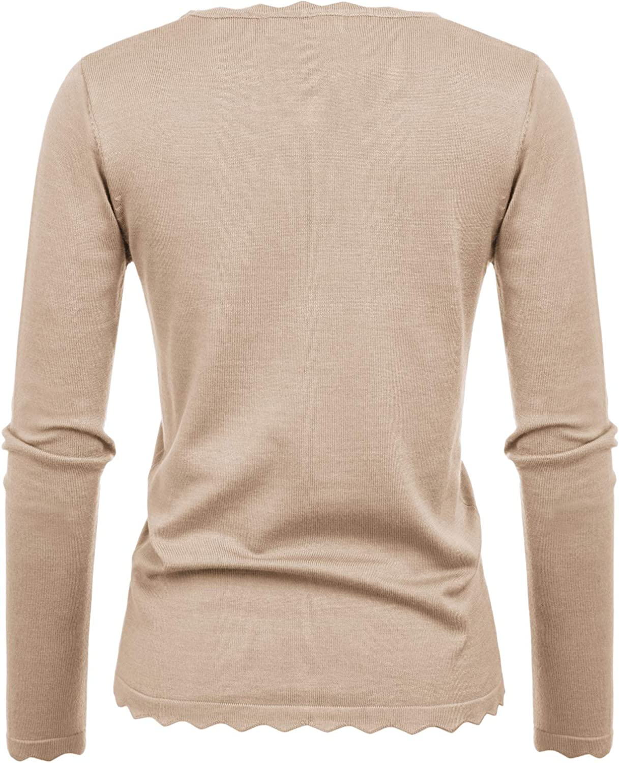 GRACE KARIN Women's High Stretchy Long Sleeve Pullover Sweater Blouse Top