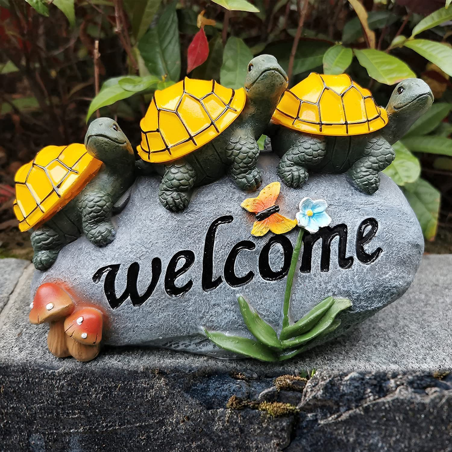 Solar Garden Statue Turtle Seattle Mall Figurine Turtles Rock Welcome Branded goods a on