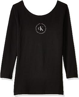 Calvin Klein Jeans Women's Round Logo Ballet T-Shirt