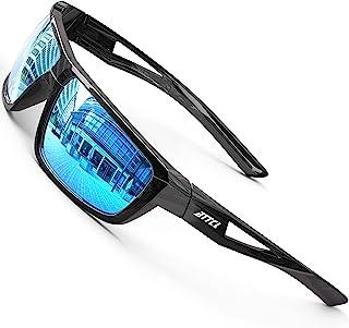 ATTCL Polarizzate Occhiali da sole da uomo con montatura in TR90 rettangolare classico da uomo