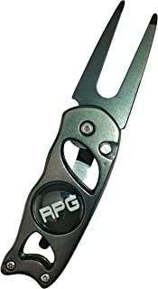 RPG Stainless Steel Switchblade Golf Divot Repair Tool with Ball Marker and Belt Clip-Attach to Golf Belt, Golf Shirt, Golf Pants, Golf Shorts, or Carry in Pocket