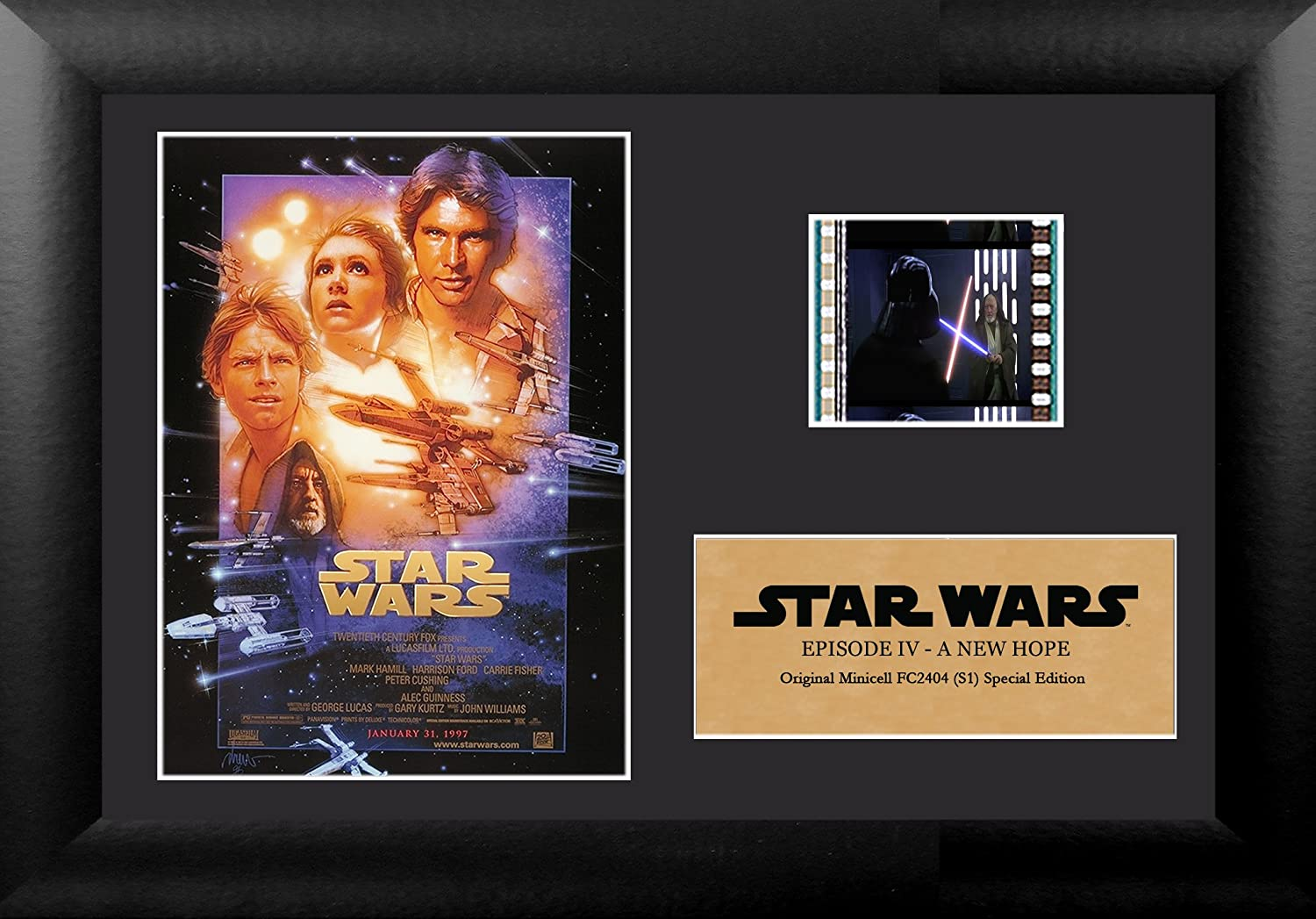 19. FilmCells Star Wars Episode IV A New Hope Authentic 35mm Film Cell Special Edition Display