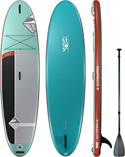 Boardworks SHUBU Solr Inflatable Standup Paddle Board (iSUP)   SUP Package Includes Rolling Backpack, Pump and Three Piece Paddle   10'6