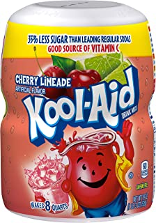 Kool-Aid Sweetened Cherry Limeade Powdered Drink Mix, Caffeine Free, 19 oz Jar
