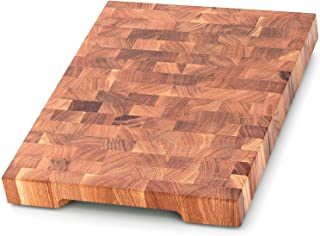 End Grain Wood cutting board - Wood Chopping block - Large cutting board 16 x 12 Kitchen butcher block Oak cutting board non slip cutting board with feet - Kitchen Wooden chopping board