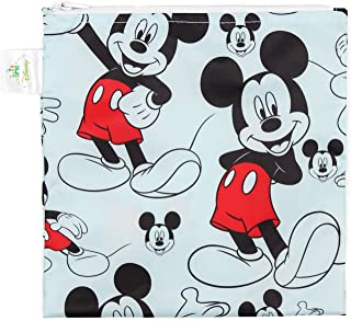 (Mickey Classic) - Bumkins Disney Baby Reusable Snack Bag Large, Mickey Mouse Classic