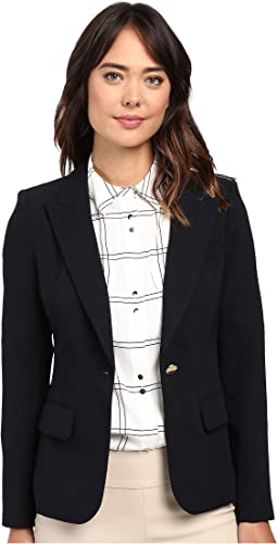 Ivanka Trump One Button Crepe Jacket
