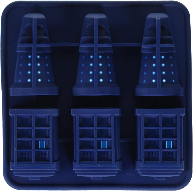 Chain Supply F247 DGT3036 Doctor Who Silicone Ice Cube Tray Tardis Daleks