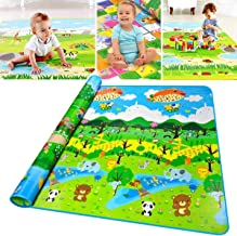 Zofey Double Sided Water Proof Baby Mat Carpet Baby Infant Crawling Play Mat Carpet Baby Gym Water Resistant Baby Play & Crawl MatFloor Playmat for Kids (Multicolour, 6.5 X 6 ft)