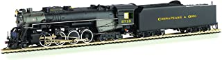 Bachmann 2-8-4 Berkshire Steam Locomotive & Tender -- DCC Sound Value Equipped C&O KANAWHA #2718 - HO Scale