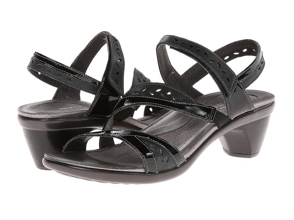 Naot Beauty (Black Patent Leather/Shiny Black Leather/Black Patent Leather) Women