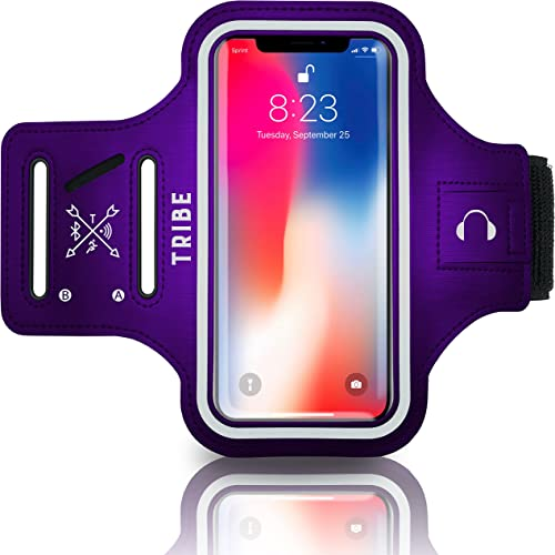 TRIBE Water Resistant Cell Phone Armband Case Running Holder for iPhone Pro Max Plus Mini SE (13/12/11/X/XS/XR/8/7/6/...