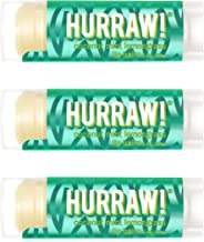 product image for Hurraw! Pitta (Coconut, Mint, Lemongrass) Lip Balm, 3 Pack: Organic, Certified Vegan, Cruelty and Gluten Free. Non-GMO, 100% Natural Ingredients. Bee, Shea, Soy and Palm Free. Made in USA