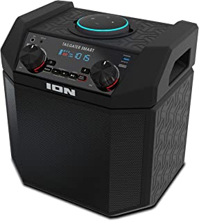 ION 50W Outdoor Echo Dot Speaker Dock/Portable Alexa Accessory with Bluetooth Connectivity and 50 Hour Rechargeable Batter...