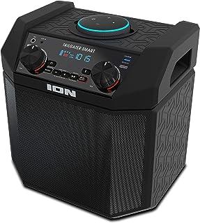 iOn 50W Estación de Altavoz Echo Dot para Exteriores, Accesorio Alexa portátil con conectividad Bluetooth y batería Recarg...