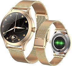 Fitonme Fitnesstracker, smartwatch voor dames, IP68 waterdicht, sporthorloge met hartslag- en bloeddruk-slaapmonitor, stap...