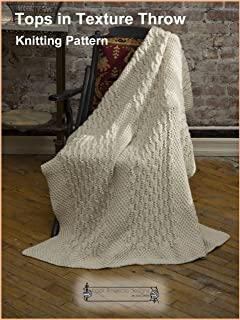 Tops in Texture Throw - Knitting Pattern