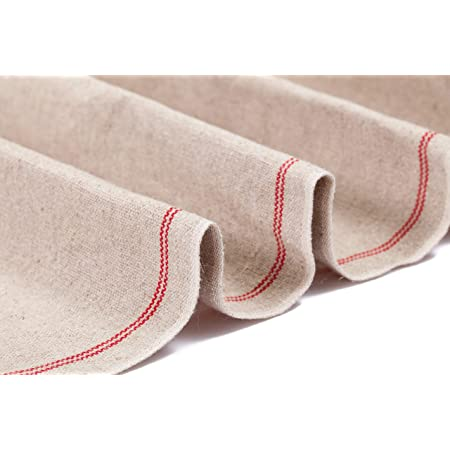 """SAINT GERMAIN Premium Professional Bakers Extra Large Couche 35""""x26"""" from France - Heavy Duty Proofing Cloth 100% Natural Flax Linen"""