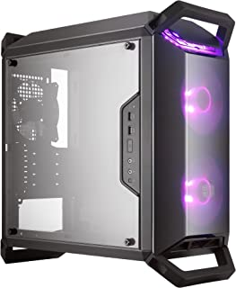 Cooler Master MasterBox Q300P mATX Tower w/Front & Top Dark Mirror Panel, Transparent Acrylic Side Panel, Adjustable I/O  & 2X 120mm RGB Fans w/RGB Controller
