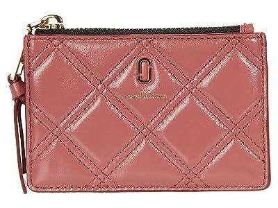 Marc Jacobs The Quilted Softshot Top Zip Multi Wallet (Santa Fe Red) Wallet Handbags