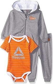 Reebok Baby Boys 3 Piece Fleece Jacket, Tee Or Creeper and Jog Pant