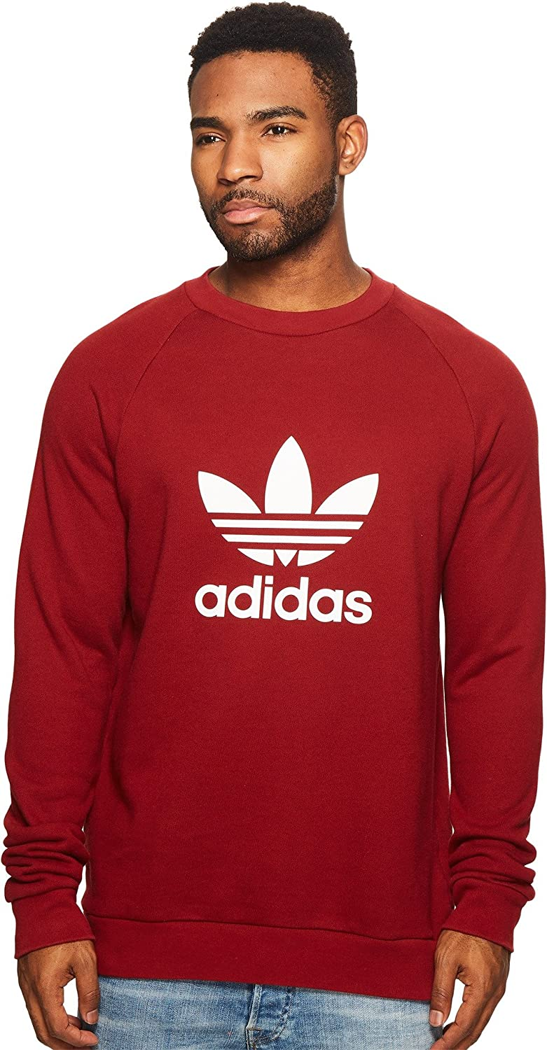 adidas Originals We OFFer at cheap prices Trefoil Crew MD Sweatshirt Red Rust Oklahoma City Mall
