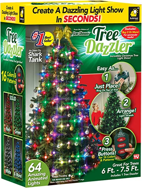 Star Shower Tree Dazzler LED Light Show By BulbHead 16 Light Patterns