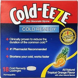 Cold-EEZE Zinc Gluconate Lozenges-Tropical Fruit-3.5oz-18 ct.