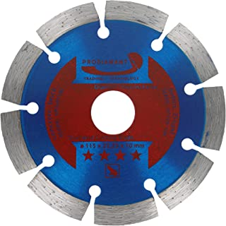 PRODIAMANT Diamantkapskiva 115 x 22,2 mm 10 mm Longlife segment betong, sten, tegel, diamantskiva universell 115 mm