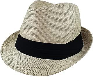 Summer Fedora Panama Straw Hats with Black Band
