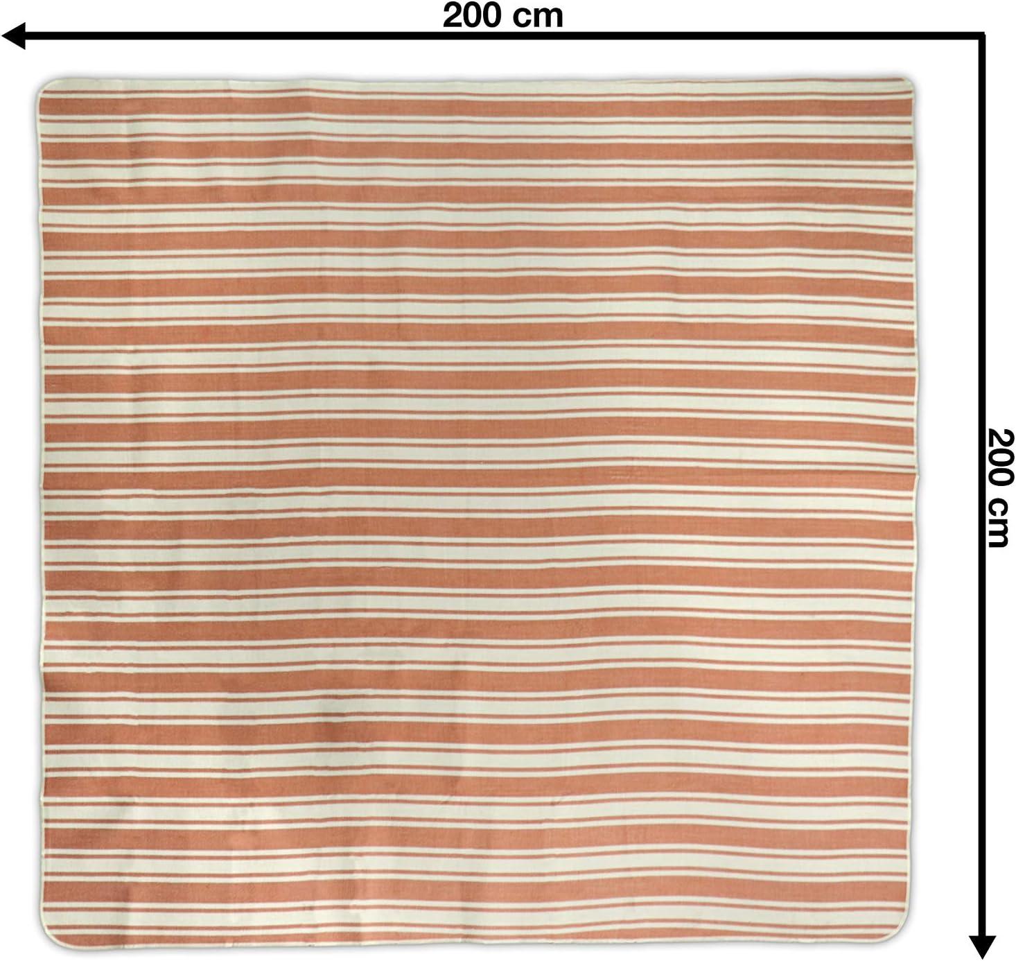 Imperm/éable R/ésistant au sable jilda-tex Couverture de pique-nique XXL Chillout bleu piment 200 x 200 cm