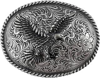 Antique Silver Finish American Eagle Western Belt Buckle