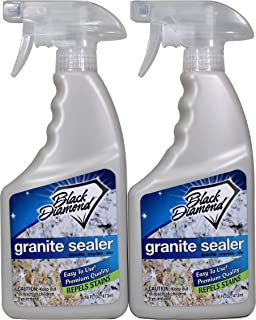 Granite Sealer: Seals and Protects, Granite, Marble, Travertine, Limestone and Concrete Counter Tops. Works Great On Grout, Fireplaces and Patios. 2-Pints