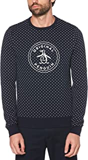 Original Penguin Men's Crew Neck Star Printed Logo Sweatshirt