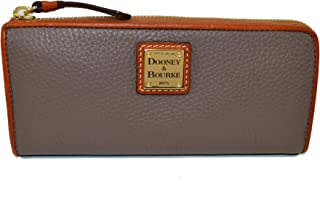 Dooney & Bourke Pebble Leather Zip Clutch Elephant