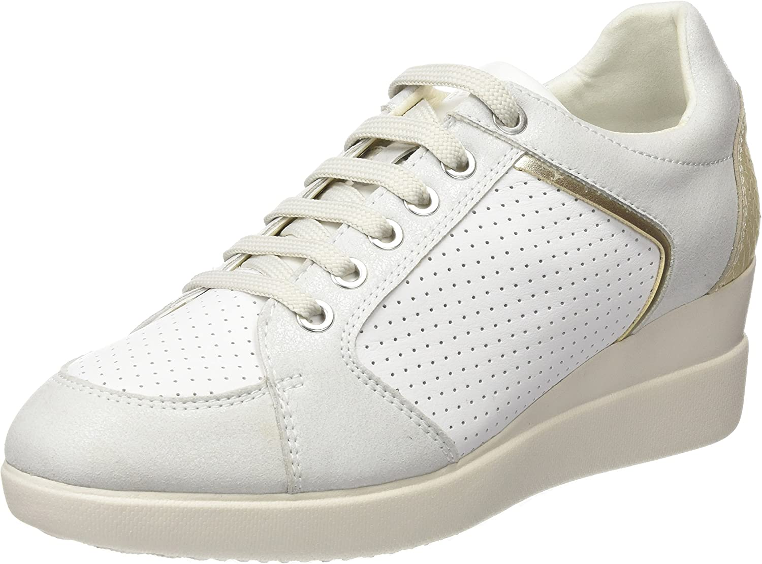 Geox Women's D Stardust B Trainers, White