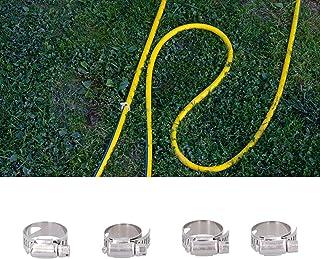 FOKH Fixador de mangueira, braçadeira de mangueira antioxidação, largura ajustável, resistência a impactos, 4 peças para e...