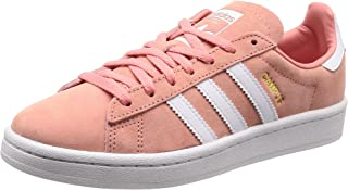 adidas WoMen's Campus Shoes, Tactile Rose/Footwear White/Crystal White, 5.5 US (5.5 AU)