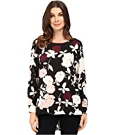 Vince Camuto - Long Sleeve Chapel Rose High-Low Blouse