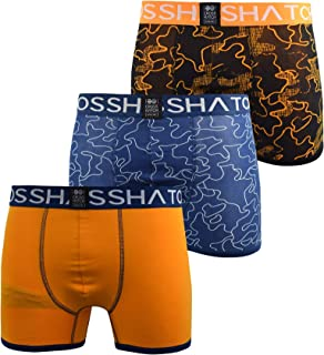 Crosshatch Mens Boxers Shorts Multipacked 3PK Underwear Gift Set 3 Pack Botany(XL,Blue)