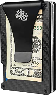 Minimalist Carbon Fiber Wallet Anti RFID Aluminum With Money Clip For Men Women