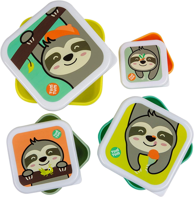Tum Tum Fiambreras para Niños Anidables – Fiambrera Infantil sin BPA – El Perezoso Stanley