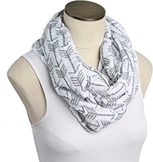 --SALE--Hold Me Close Muslin Double Gauze Nursing Scarf (White with Gray Arrows)